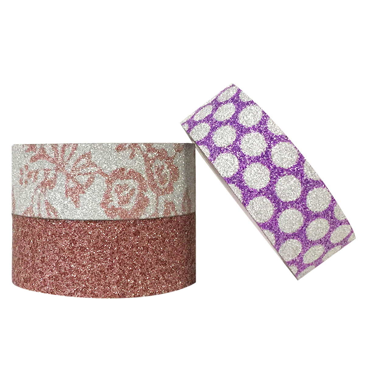 Wrapables Pink Flora and Dots Washi Masking Tape (set of 3)