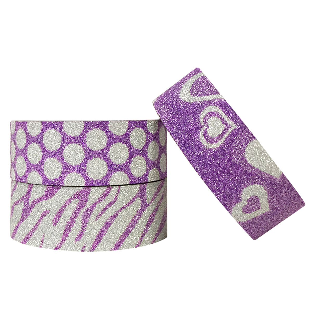 Wrapables Purple Shimmer Washi Masking Tape (set of 3)