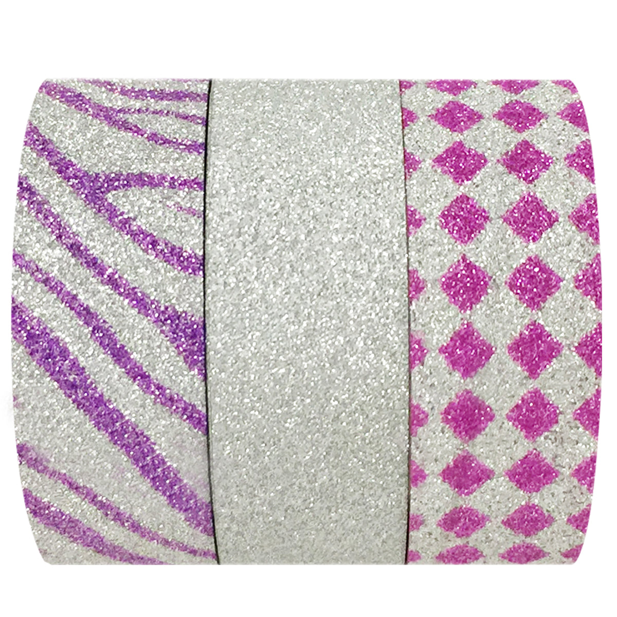 Wrapables Fuchsia Fusion Washi Masking Tape (set of 3)