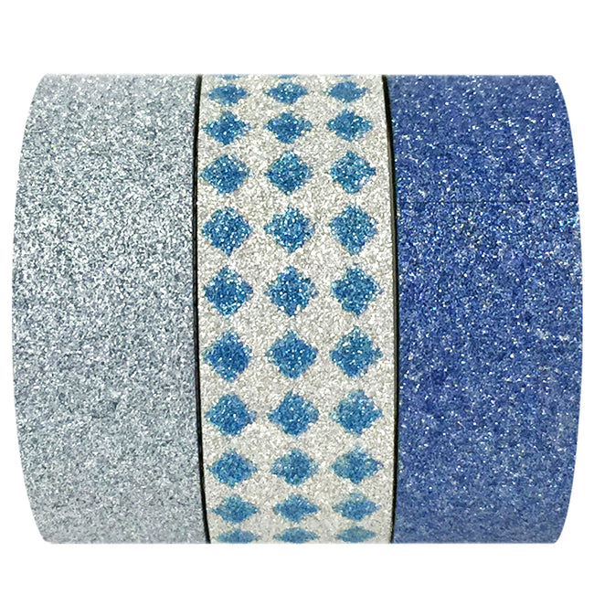 Wrapables Blue Ice Washi Masking Tape (set of 3)