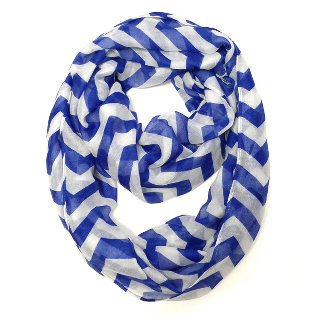 Wrapables Light Weight Chevron Infinity Scarf, Dark Blue