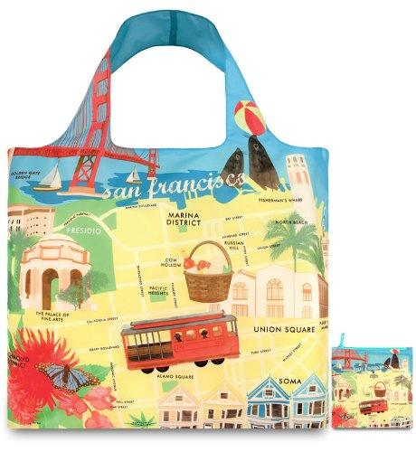 LOQI Urban San Francisco Reusable Shopping Bag
