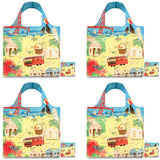LOQI Urban Reusable Shopping Bags (Set of 4)