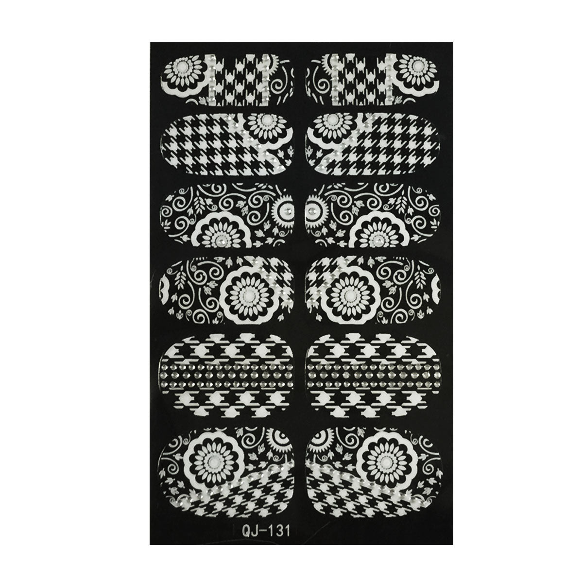 Wrapables Fashionable Black and White Nail Art Stickers