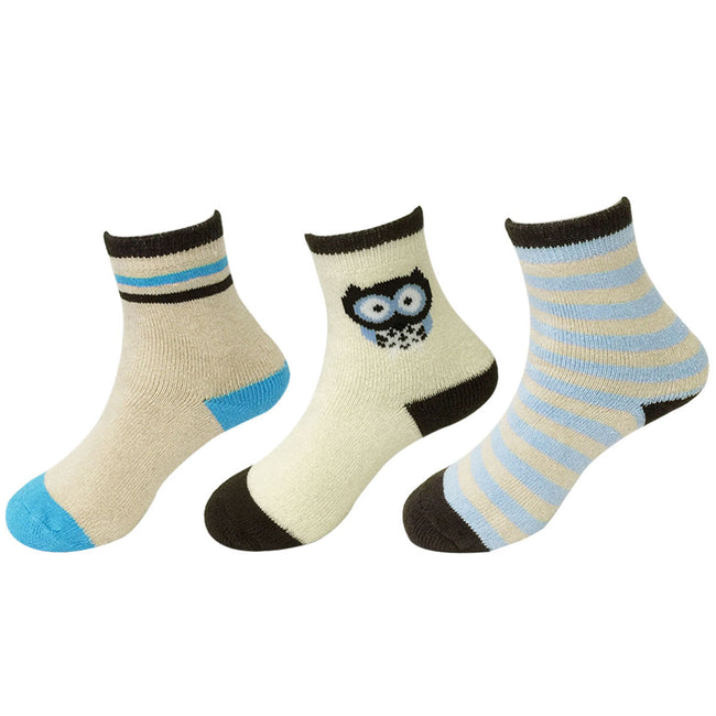 Wrapables Toddler's Thick Casual Ankle Socks (Set of 3)