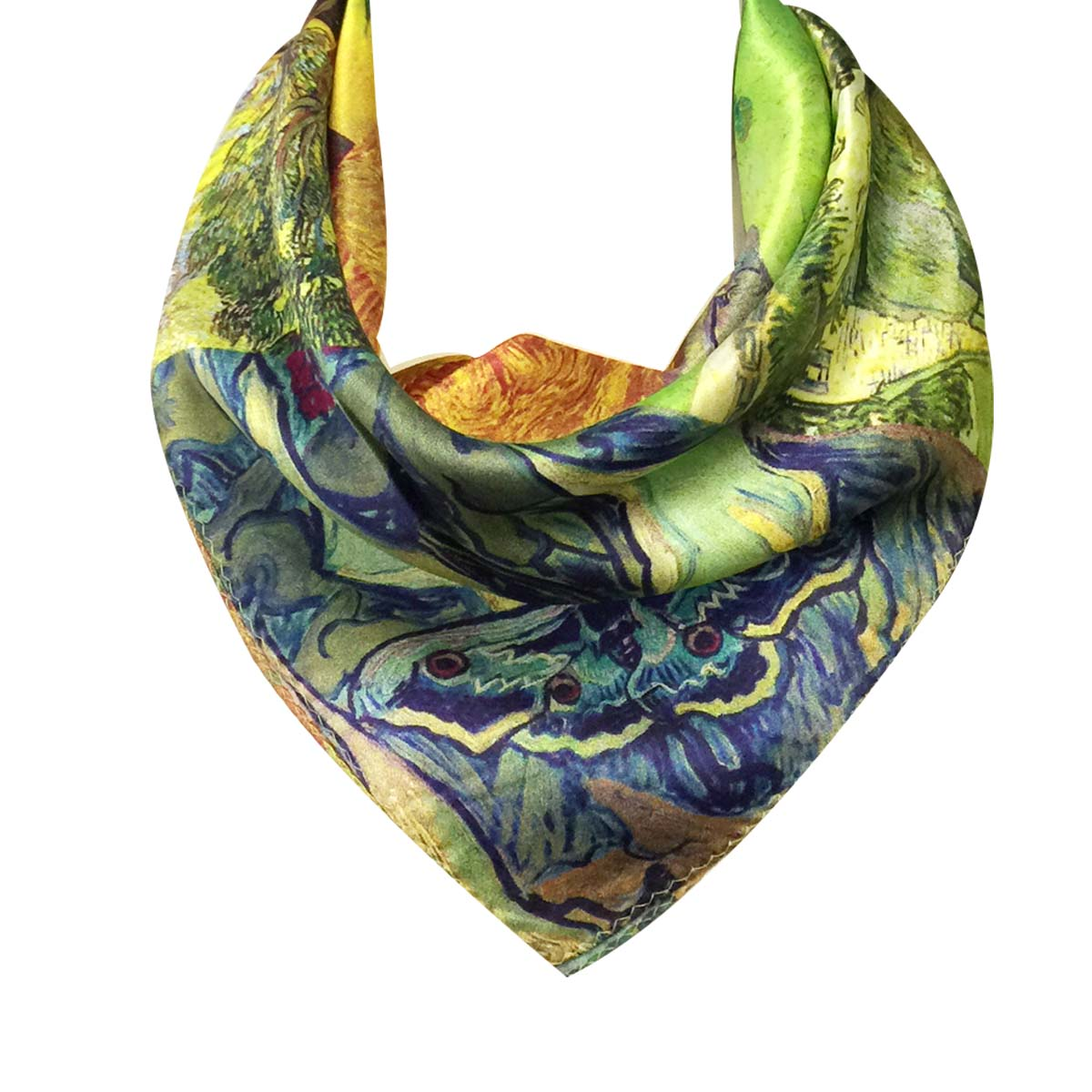 Wrapables 100% Charmeuse Silk Square Scarf Neckerchief