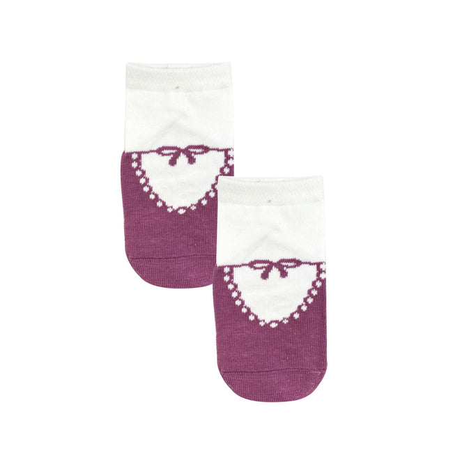 Wrapables Anti Slip Mary Jane Socks for Babies (Set of 4)
