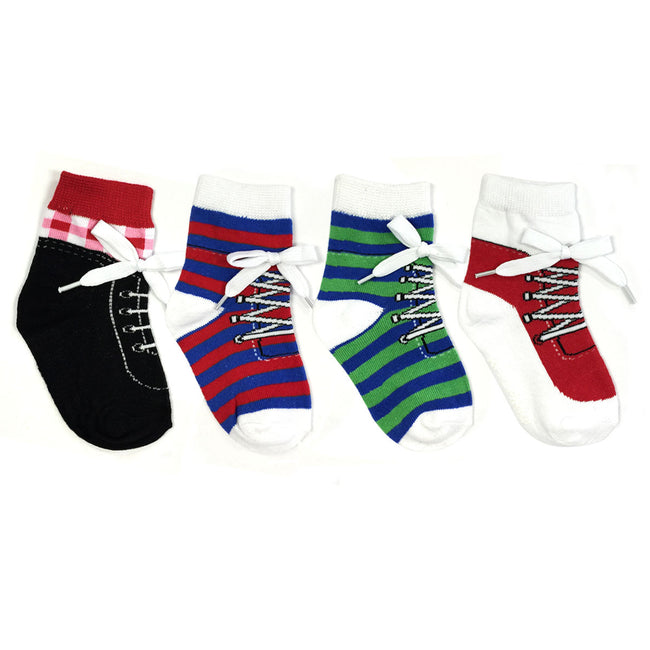 Wrapables Non-Slip Silly Sneaker Socks for Baby (Set of 4)