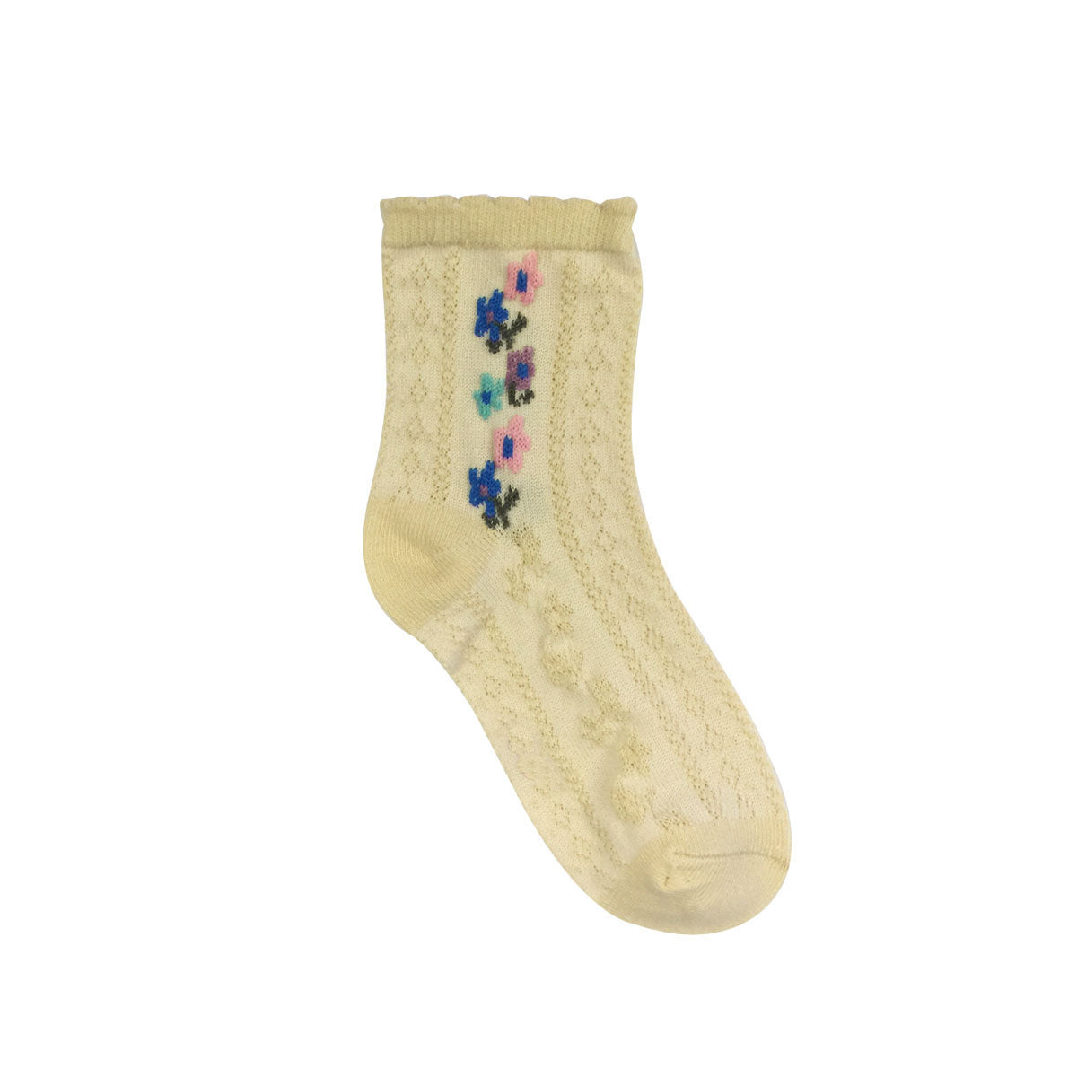 Wrapables Vintage Floral Pattern Toddler Socks (Set of 5)