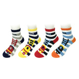 Wrapables Full Steam Ahead Train Socks (Set of 4)