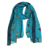 Wrapables Soft Viscose Bird Print Multi-Style Scarf Wrap Shawl Sarong