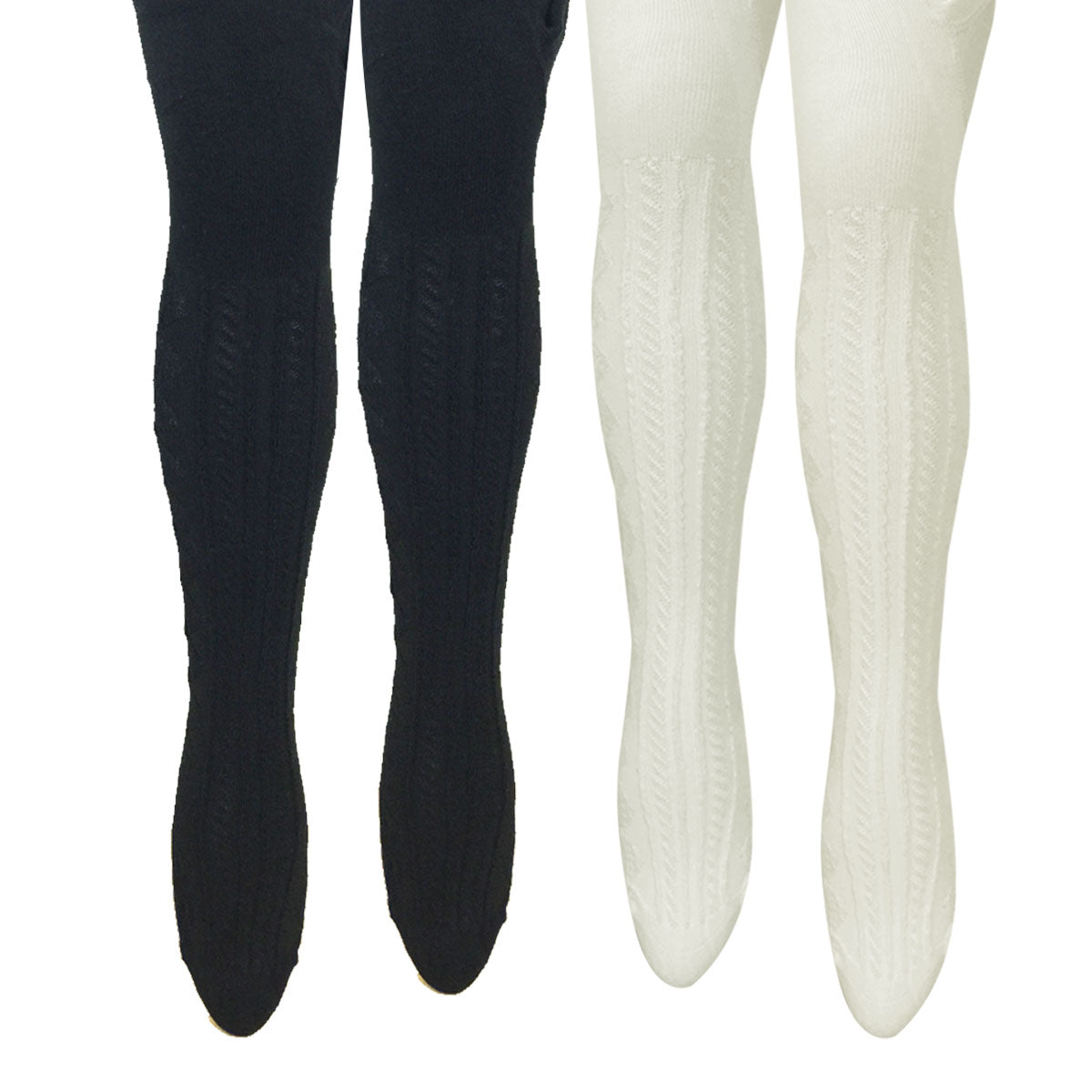 Wrapables Warm Cable Knit Tights for Toddler Girls (Set of 2)