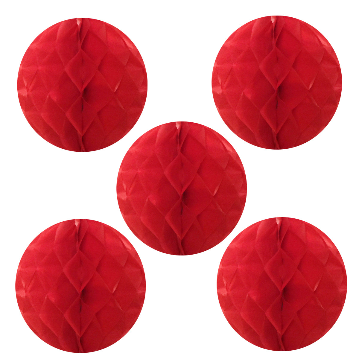 "Wrapables 6"" Set of 5 Tissue Honeycomb Ball Party Decorations"