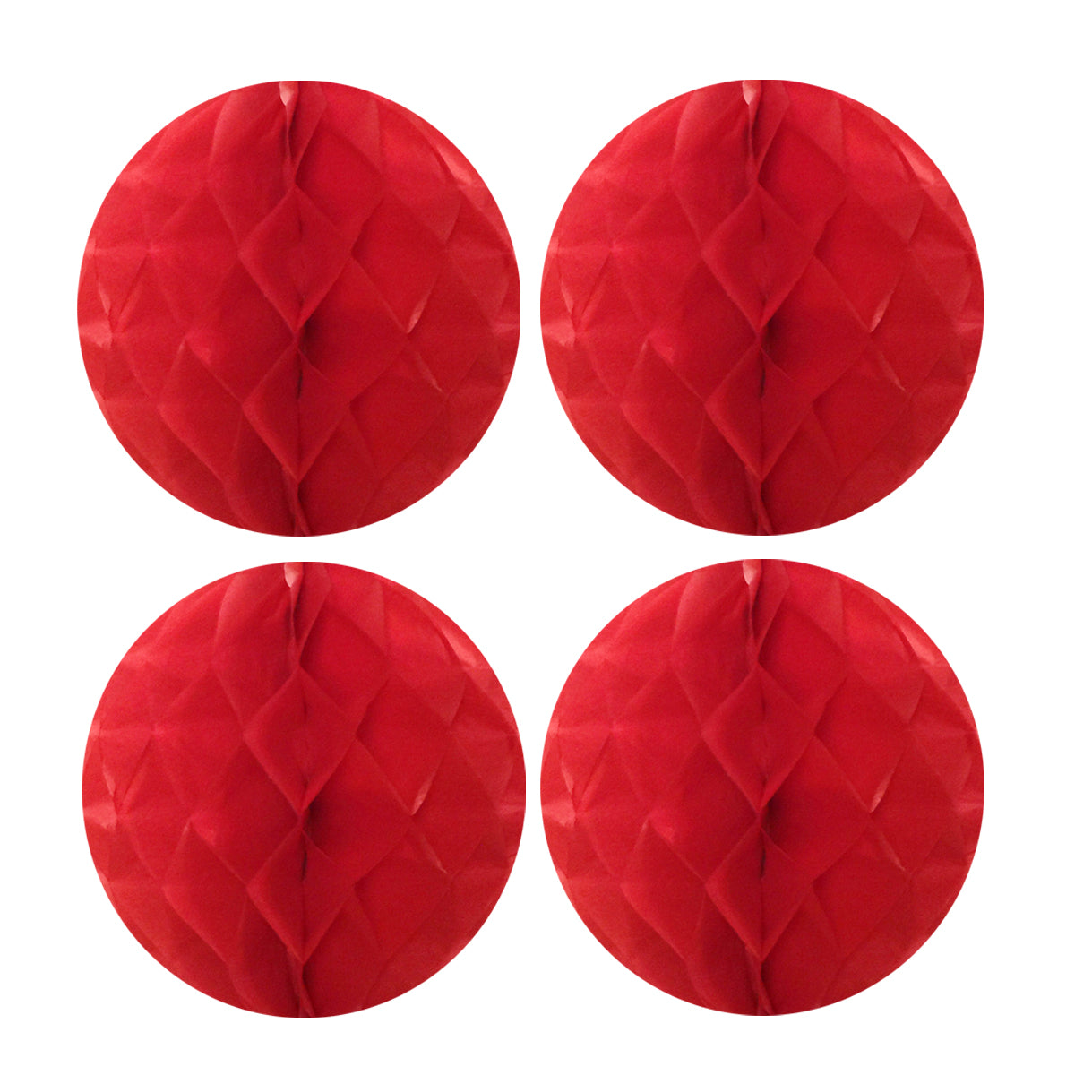 "Wrapables 8"" Set of 4 Tissue Honeycomb Ball Party Decorations"