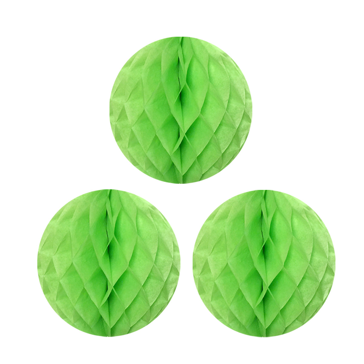 "Wrapables 12"" Set of 3 Tissue Honeycomb Ball Party Decorations"