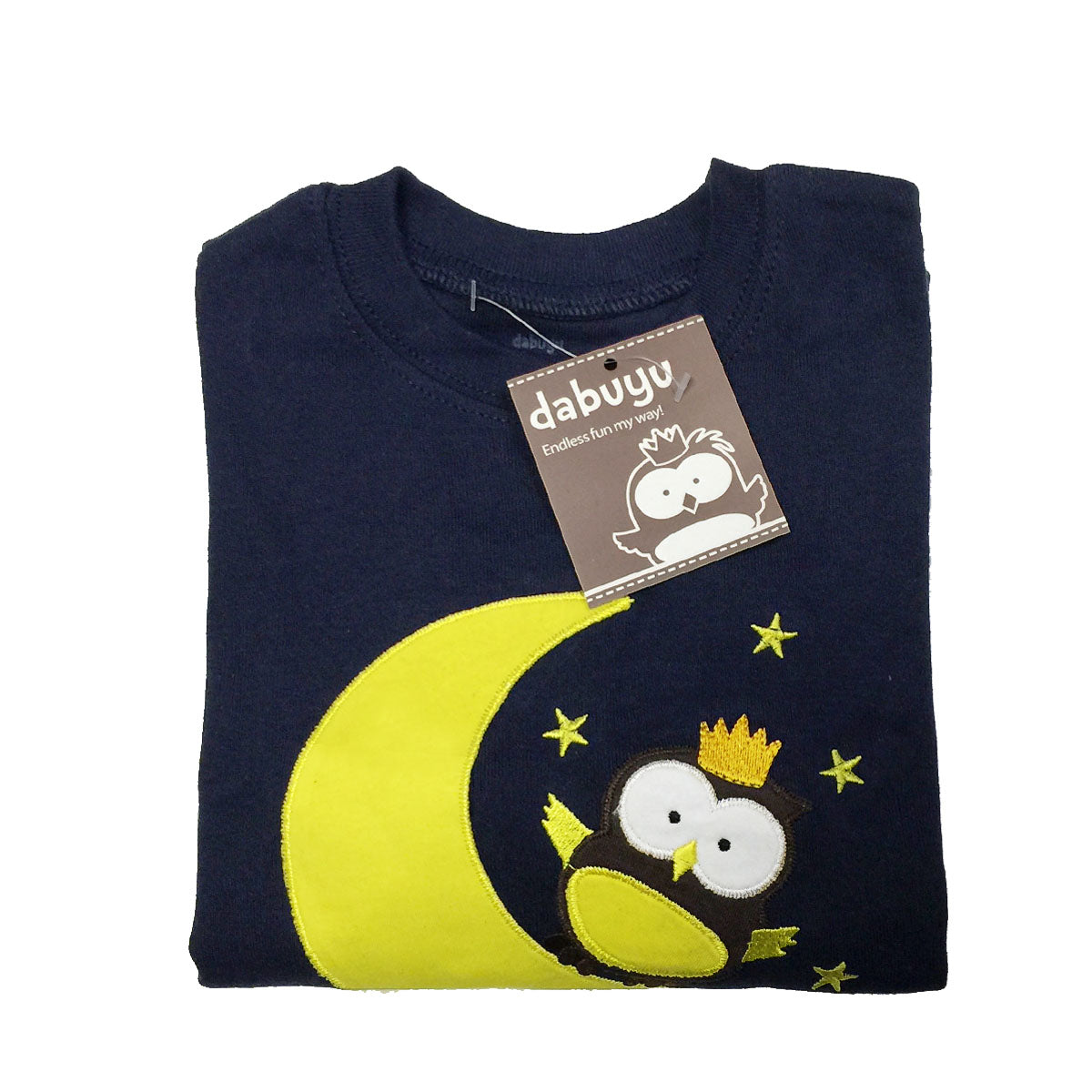 Dabuyu Moon & Owl Children's Pajamas