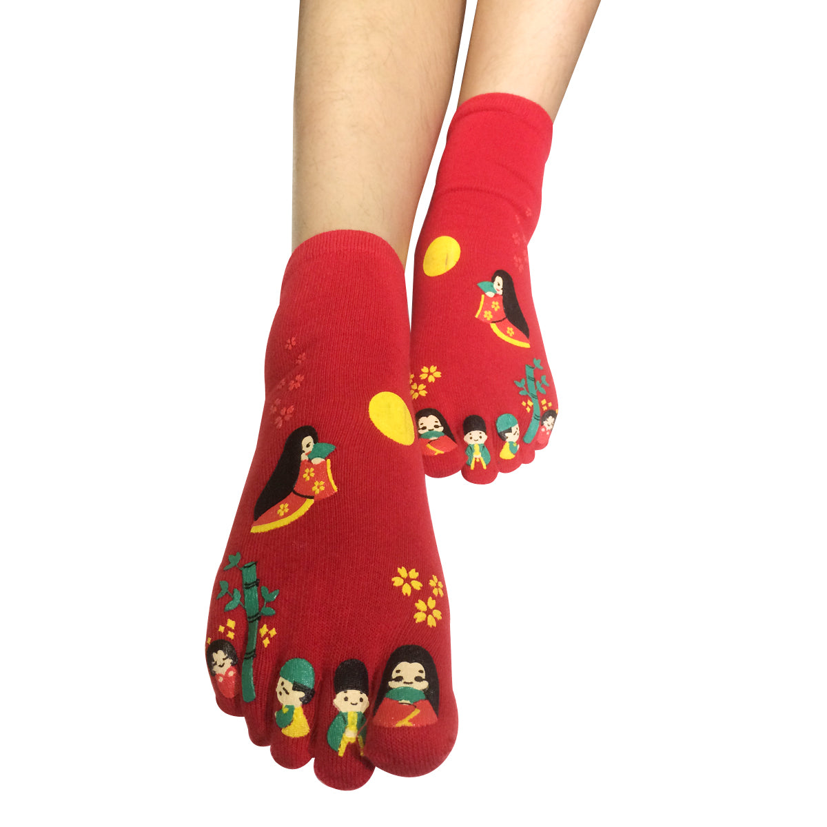 Wrapables Japanese Girl Cartoon Socks Five Toe Socks (Set of 3)