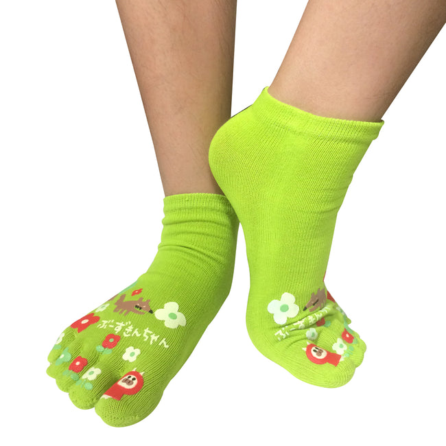 Wrapables Big Bad Wolf Cartoon Socks Five Toe Socks (Set of 3)