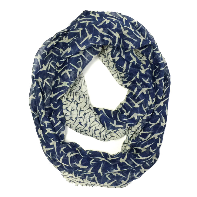 Wrapables Bird Print Infinity Scarf