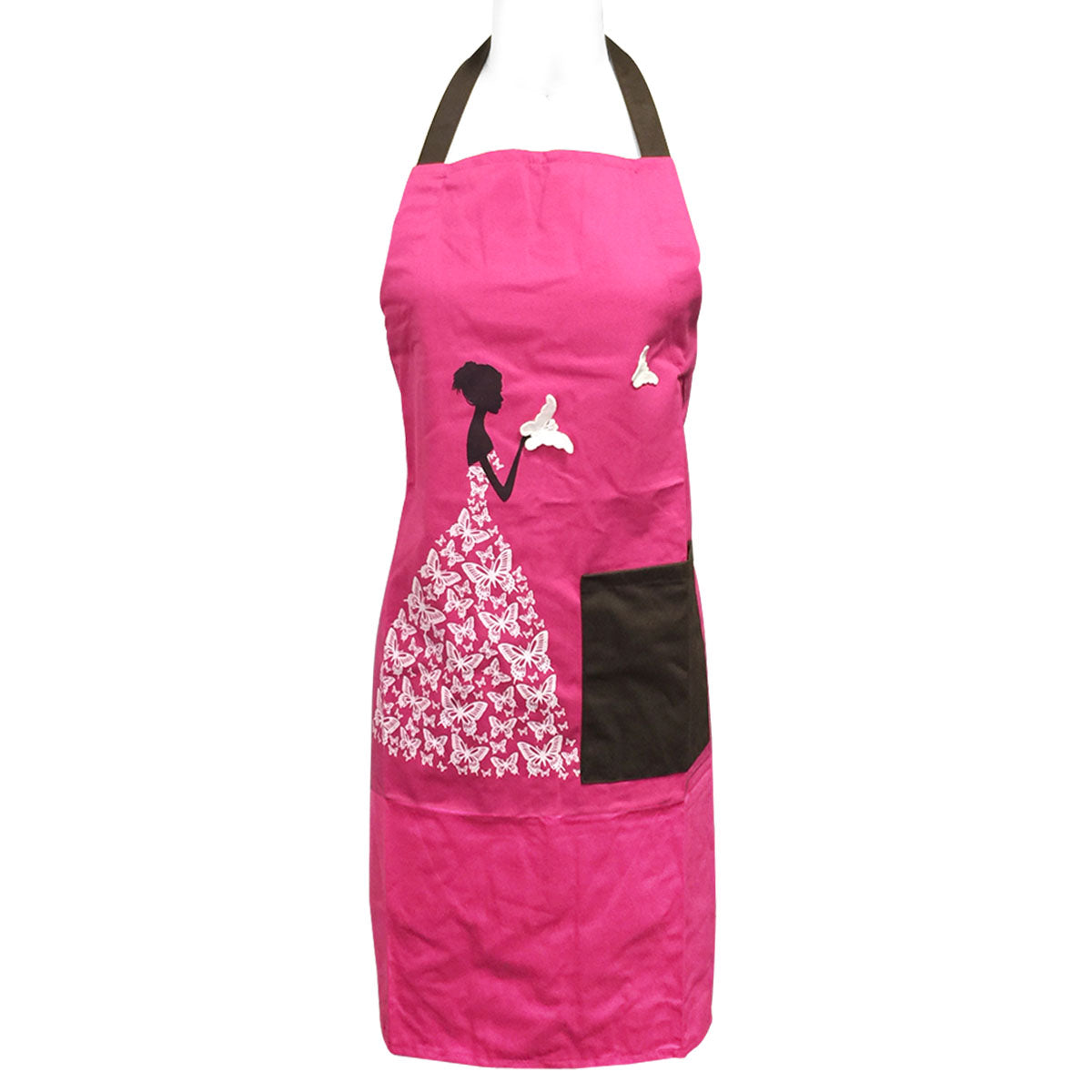 Wrapables Butterfly Girl Adjustable Work Apron