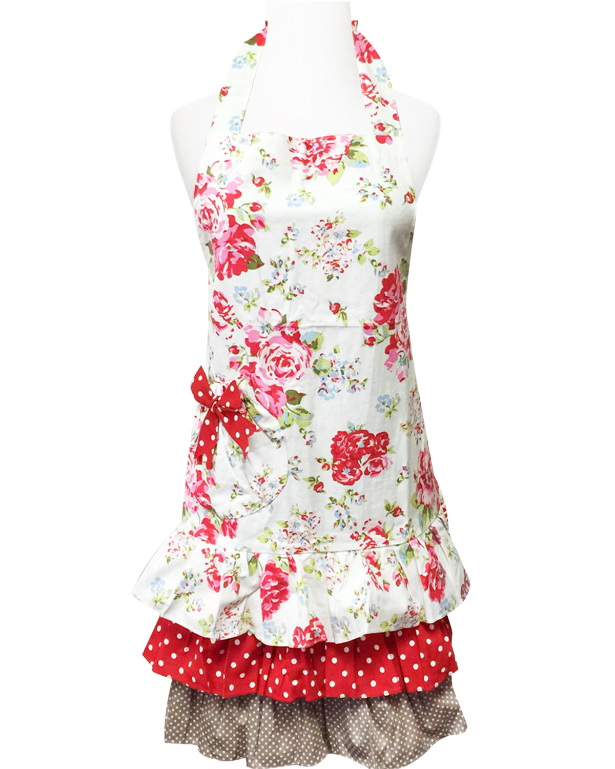 Wrapables Ruffles and Roses Apron