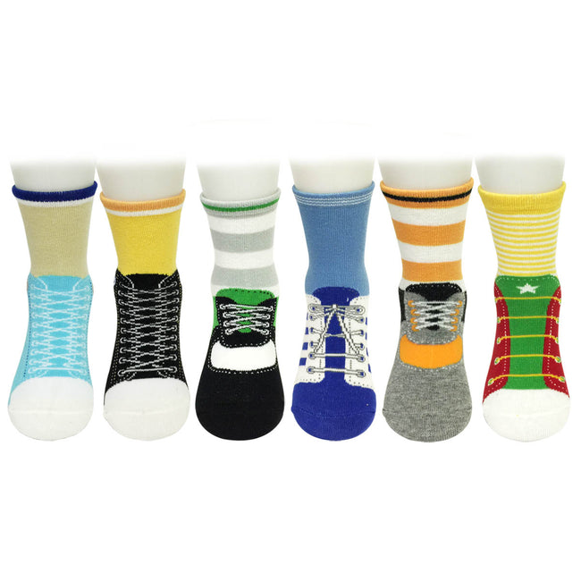 Wrapables Sporty Shoe Socks (Set of 6)