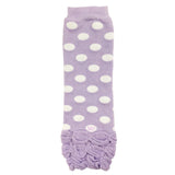 Wrapables Ruched and Dots Baby Leg Warmers