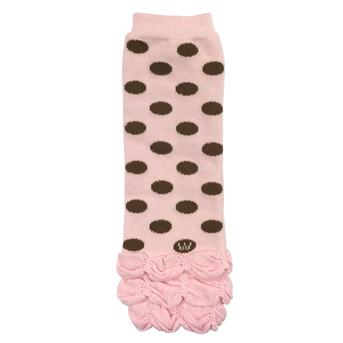 Black Wrapables Ruched and Dots Baby Leg Warmers