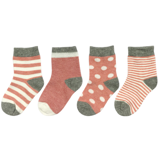Wrapables Casual Cute Socks for Baby (Set of 4)