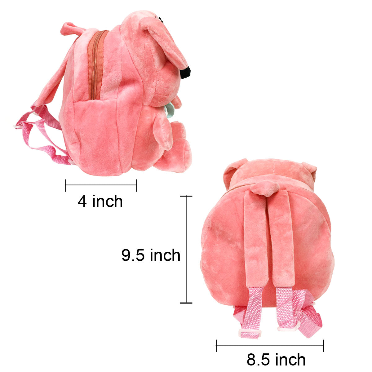Wrapables Plush Friendly Animals Backpack for Toddlers
