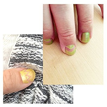 Wrapables 64 Sheets Nail Art Nail Guide Stickers Nail Tip Stickers Nail Stencil Stickers, 16 Designs (4 sheets each design)
