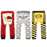 Wrapables Baby & Toddler Leggings Set of 3, Ladybug / Sheep/ Lion, 80 cm
