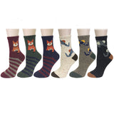Wrapables Thick Rabbit Hair Wool Crew Socks (Set of 6)