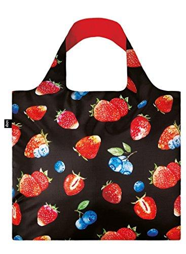 LOQI Juicy Strawberries Reusable Shopping Bag