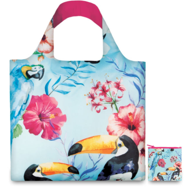 LOQI Wild Birds Reusable Shopping Bag