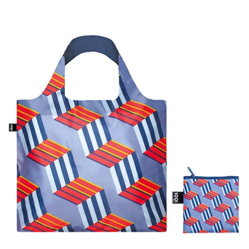LOQI Geometric Cube Reusable Shopping Bag