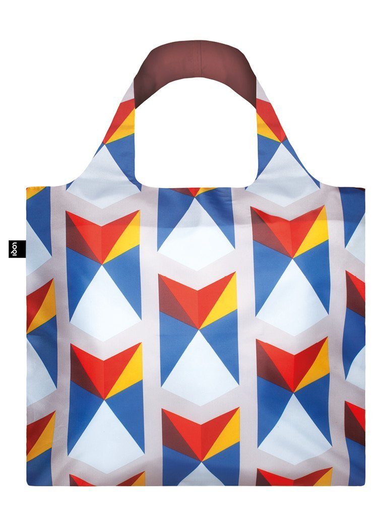 LOQI Geometric Triangle Reusable Shopping Bag
