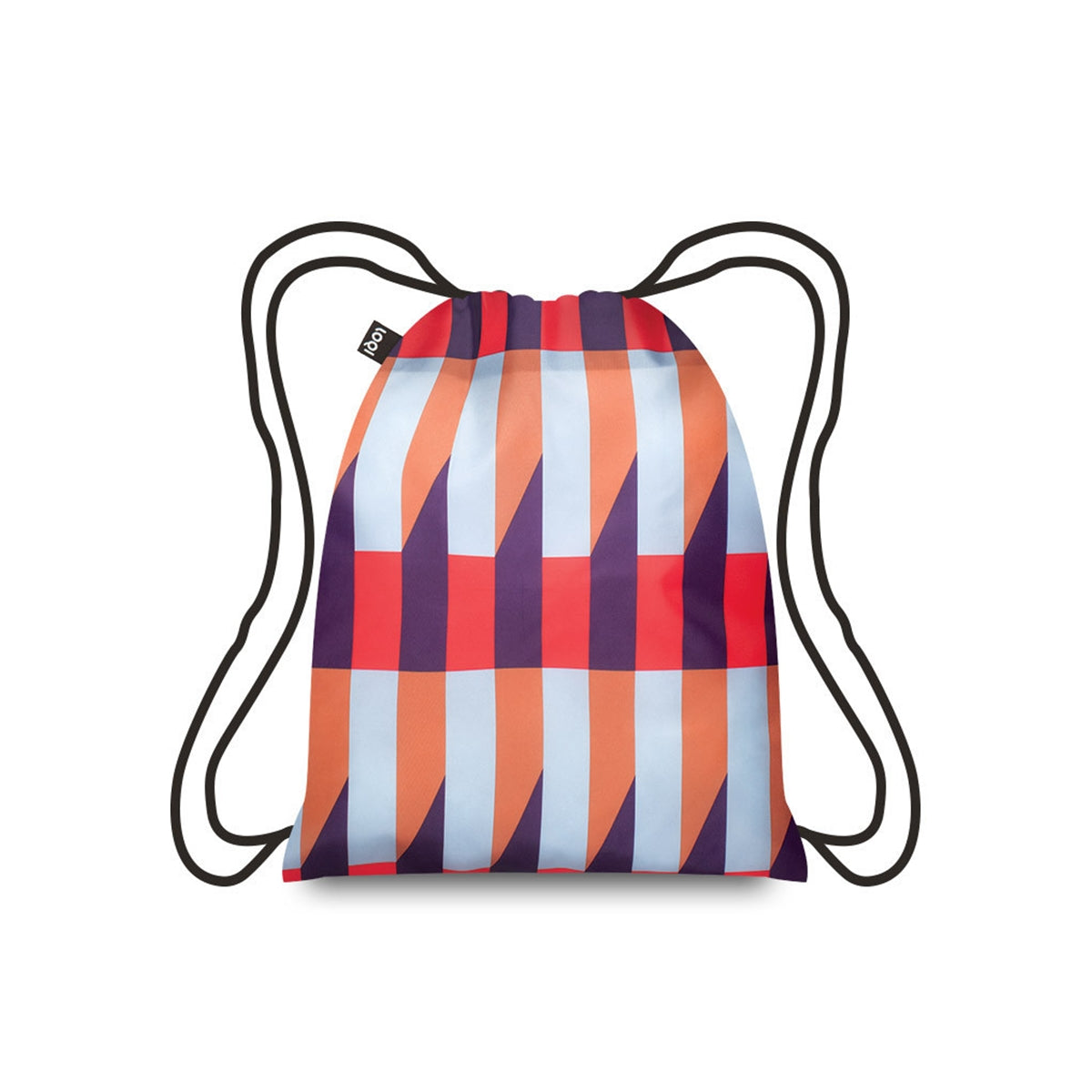 LOQI Geometric Stripes Backpack