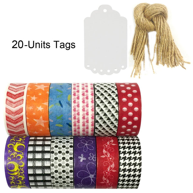 Wrapables WPSET35 Washi Masking Tape Collection (Set of 12)