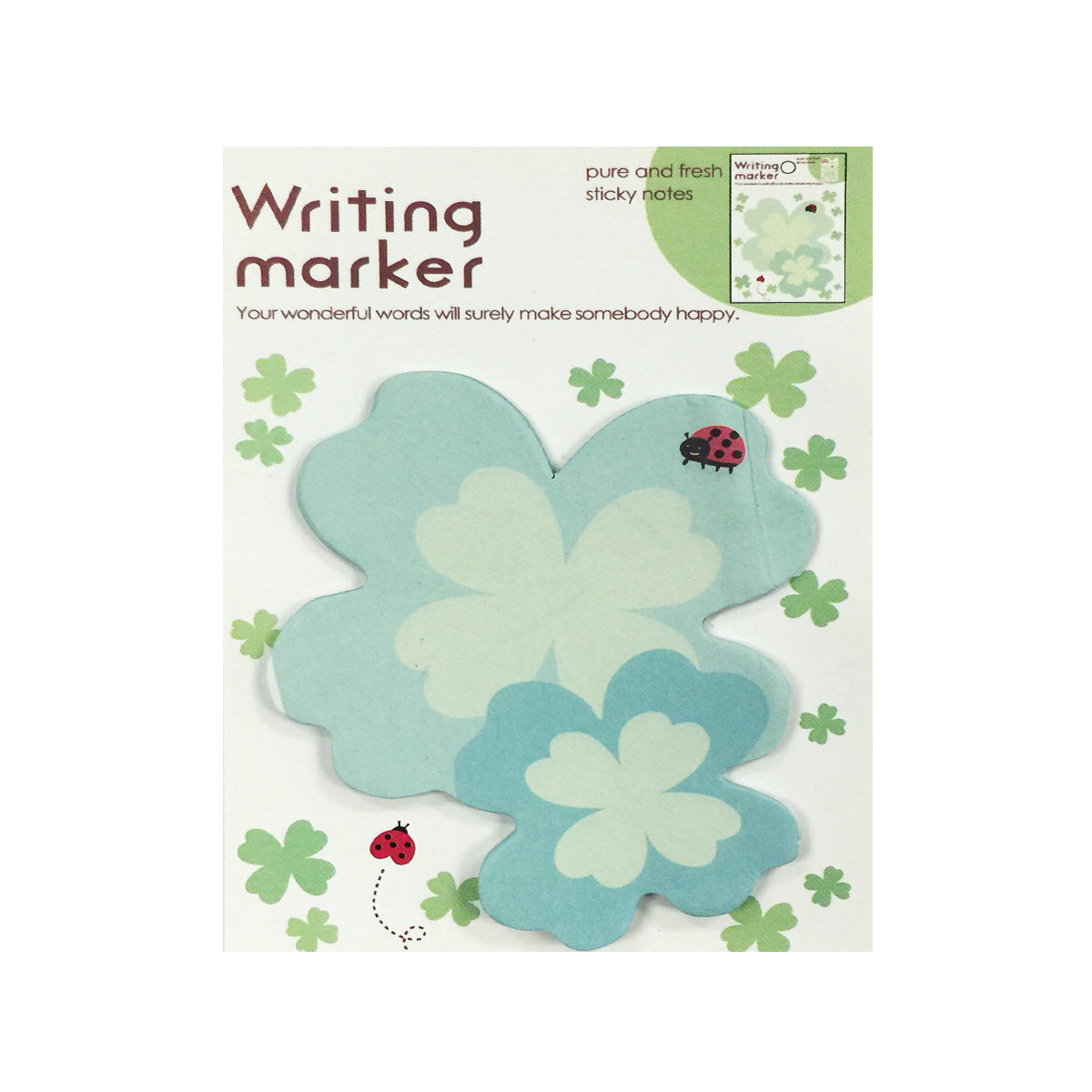 Wrapables Sweet Floral Memo Sticky Notes (Set of 4)