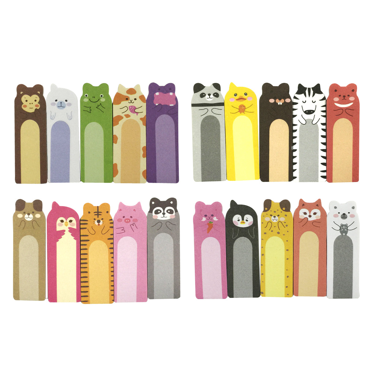 Wrapables Animal Friends Bookmark Flag Tab Sticky Notes (Set of 4)