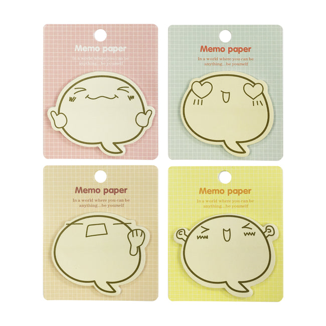 Wrapables Happy Memo Sticky Notes (Set of 4)