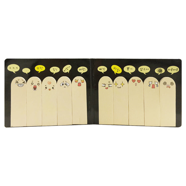 Wrapables 10 Finger Emotion Bookmark Flag Tab Sticky Notes (Set of 2)