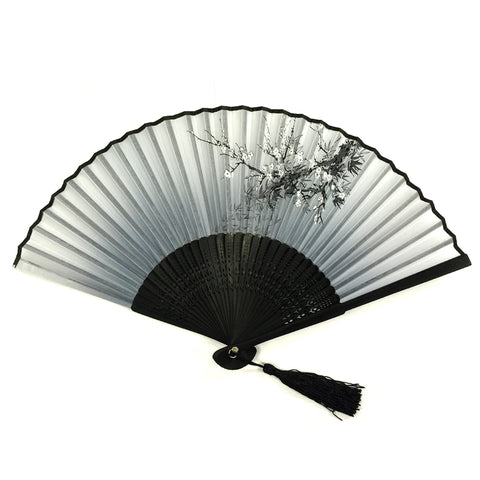 Wrapables Floral Lace Handheld Folding Fan with Tassel