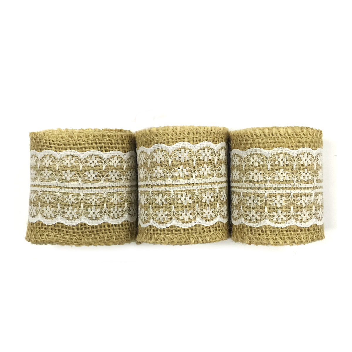Wrapables Hessian Burlap with Lace Ribbon