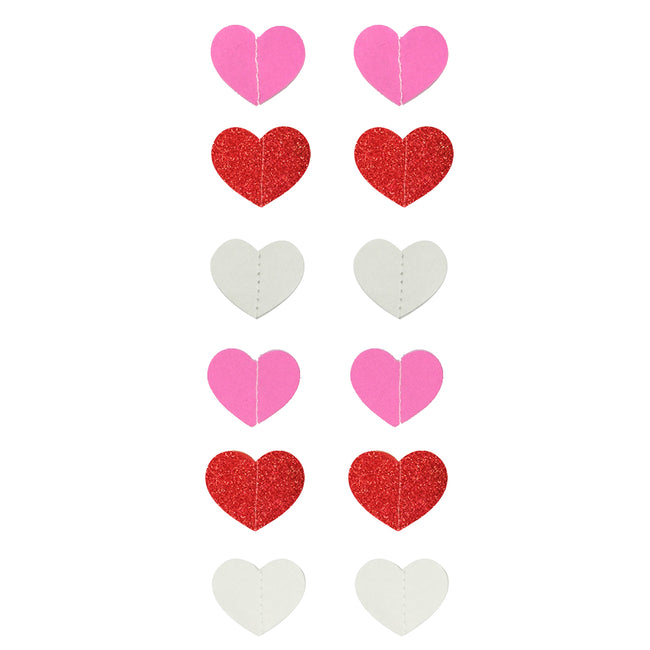 Wrapables 13ft Paper Heart Garland Party Decorations (Set of 2)