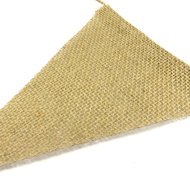 Wrapables Burlap Triangle Pennant Banner Party Decorations Party Decorations for Weddings, Birthday Parties, Baby Showers, Home Decor, Picnics, and Bake Sales