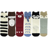 Wrapables My Best Buddy Socks for Baby (Set of 6), Forest Friends