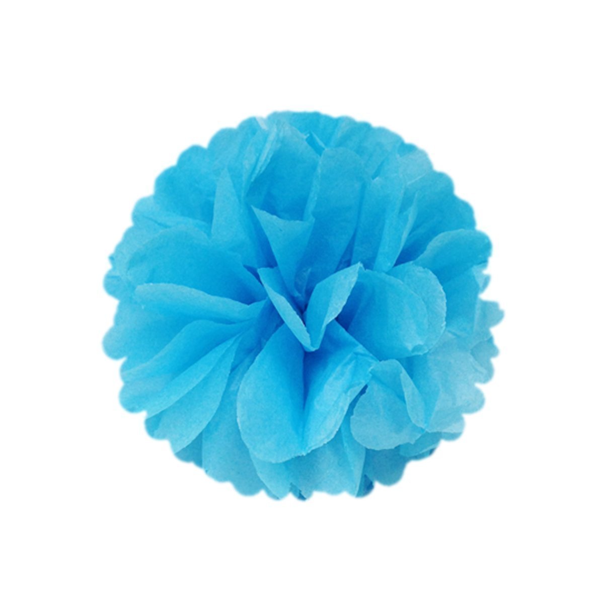 Wrapables Set of 21 Tissue Honeycomb Ball and Pom Pom Party Decorations, Blue/ Light Blue/ Aqua/ White
