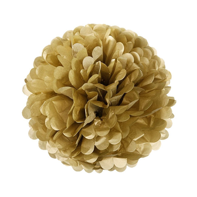 Wrapables Set of 21 Tissue Honeycomb Ball and Pom Pom Party Decorations, Gold and White
